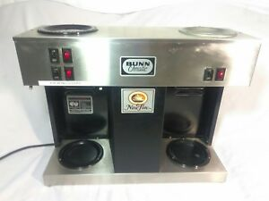 Bunn Vps Commercial Pourover Coffee Brewer Auto Machine Pour omatic W 3 Warmers