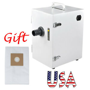 Us Portable Dental Digital Single row Dust Collector Vacuum Cleaner System Bag