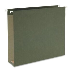 Smead 100 Recycled Green Box Bottom Letter Size 2 Capacity Hanging Folders 25