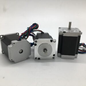 3pcs Stepper Motor Nema23 57x56mm 1 2nm 172oz in 2ph 8mm Shaft High Torque Cnc