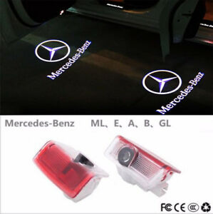 2pcs Logo Led Door Courtesy Light Ghost Shadow Laser Projector For Mercedes benz