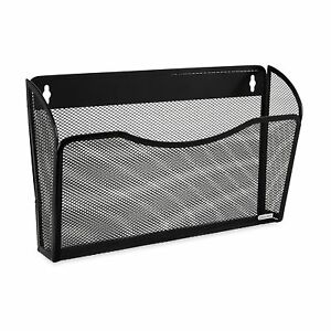 Rolodex Mesh Collection Single pocket Wall File Black 21931