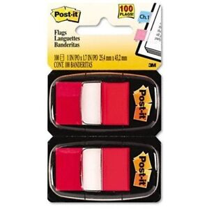 Post it Flags Marking Page Flags In Dispensers Red 50 Flags dispenser 12