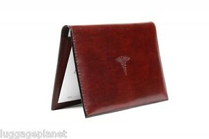 Bosca Old Leather Doctors Physicians Prescription Pad Cover 711 Dark Brown
