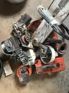 Stihl Ts350 Concrete Saw Motor Runs Needs Belts Assembly Etc