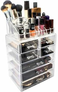 Sorbus Acrylic Cosmetic Makeup And Jewelry Storage Case Display Spacious Desig