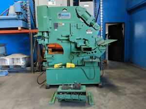 75 Ton Hill Acme Universal Hydraulic Ironworker Metal Punch Cope Shear Notch