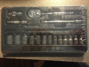 New Snap On Tool 1 4 Drive 6pt Ratchet Extension Swivel Socket Set Metric 117tmm
