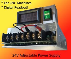 24v Adjustable Power Supply With Digital Readout Machining Centers