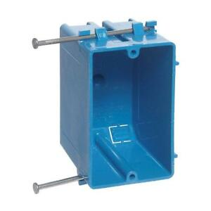 1 gang 18 Cu In Zip Box Non metallic Switch And Outlet Box blue case Of 100