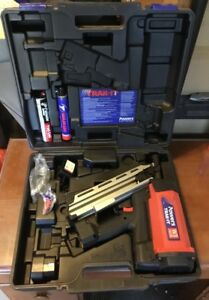 Powers Trak it W3 Gas Fastening Nail Gun W Case And Accy s