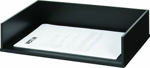 Victor Wood Stacking Letter Tray 1154 single black