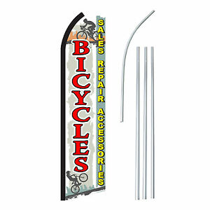 Bicycles Advertising Feather Flutter Swooper 2 5 Banner Flag And Pole Only