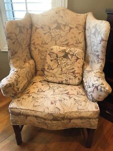 Hickory Chair By Lane Collection Winged Back Chair