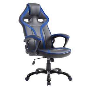 Race Car Style Bucket Seat Office Chair High Back Racing Gaming Chair Desk Task