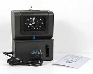 Lathem Manual Time Clock 2101 Month Date Am pm 1 12 Hours Minutes