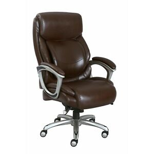 La z boy Big And Tall Bonded Leather Executive Chair Brown