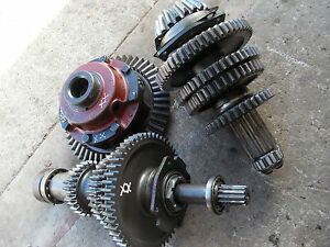 Farmall 400 450 Tractor Complete Set Up Low Pinion Ih Transmission Gears