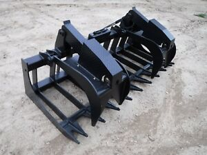 Bobcat Skid Steer Attachment 84 Severe Duty Root Grapple Bucket Ship 199