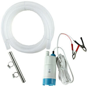 tera Pump Portable Submersible Water Filter Pump 12v Dc Car With Battery Hose