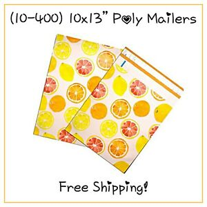 Free Shipping 25 400 Pack Citrus Fruit Designer Poly Mailers