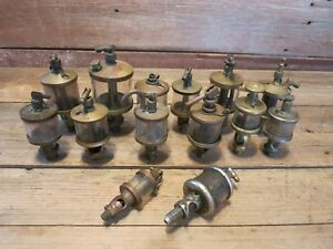 Vintage Lot Essex American Others Brass Grease Cup Drip Oilers