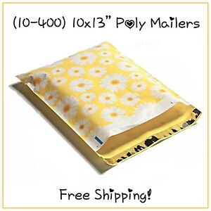 Free Shipping 25 400 Pack 10x13 Daisy Poly Mailers