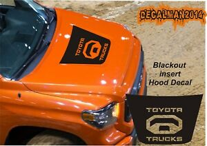 Toyota Tundra Trucks Logo Blackout Hood Vinyl Decal 2014 2018 Matte Black