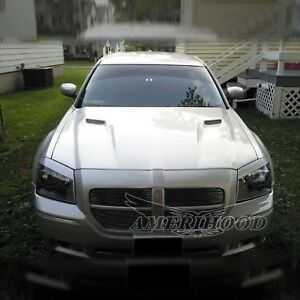 Fiberglass Hood For 2005 07 Dodge Magnum Clg Style Fiber Glass Hood