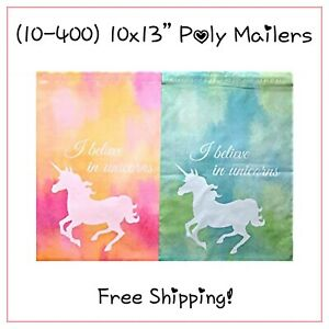 Free Shipping 25 400 Pack 10x13 Blue pink Mix Unicorn Designer Poly Mailers