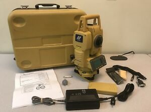Topcon 3 Total Station Gpt 3003lw W 2 Batteries Bluetooth Reflectorless