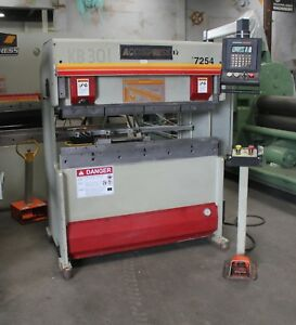25 Ton X 4 Accurpress Cnc 2 Axis Hydraulic Press Brake Sheet Metal Bender 1999