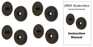 4 Black Seat Belt Buckle Retainer Seatbelt Stop Button Fits Mercury Merkur
