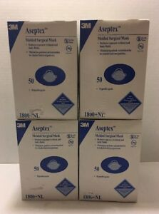 3m Molded Surgical Masks lot Of 4 50 Per Box