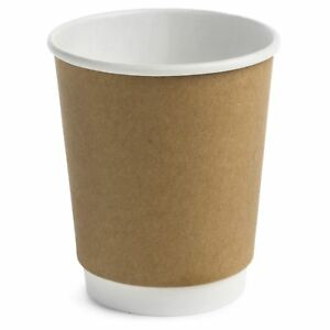Earth s Natural Alternative Double Wall Kraft Paper Hot Coffee Cup 8 Oz 50 Ct