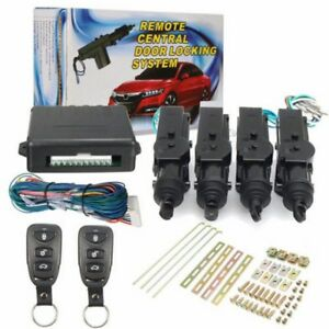 Universal Car Central Power Door Lock Unlock Remote Kit Keyless Entry System