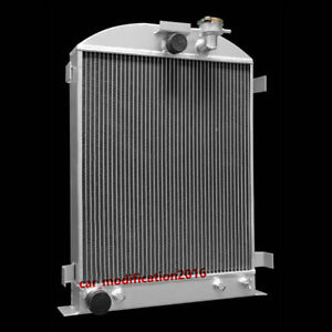 4 Row Full Aluminum Radiator For 1932 Ford Hi Boy Hotrod Grill Shells V8 Pickup