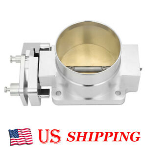 Aluminum Billet Throttle Body For 96 04 Ford Mustang Gt 4 6l V8 76mm New Silver