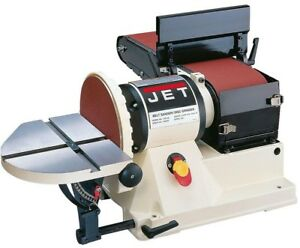 JET Benchtop Belt Disc Sander 6 in. x 48 in. 34 HP Dust Port Cast Iron Table