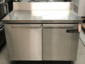 New Continental 48 Undercounter Worktop Refrigerator Sw48 bs Stainless Cooler
