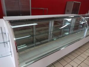 8 Lit Display Cabinet 8 Feet W Shelves Commercial Business Show Case