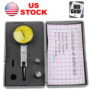 Dial Gauge Test Indicator Precision Metric With Dovetail Rails Case