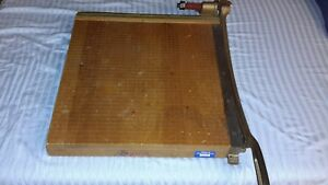 Vintage Wooden Ingento Paper Cutter No 5 1 2 Industrial Heavy Duty