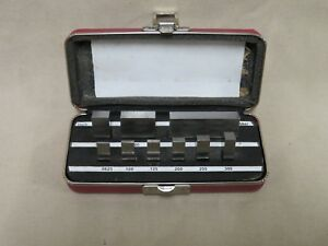 Starrett webber Rs9 a1 9 Pc Rect Inch Grade 2 a Precision Gage Block Set