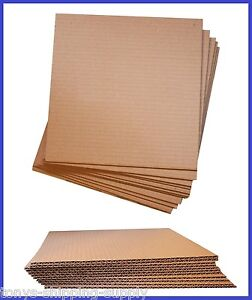 100 Pack Corrugated Cardboard Pad Insert Sheet Divider small Med 17 Sizes