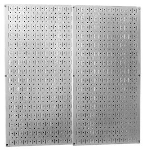 Pegboard Pack Hooks Wall Slotted Storage Sheet Metal Garage Galvanized Steel