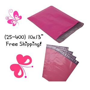 Free Shipping 25 400 Pack 10x13 Hot Pink Poly Mailers
