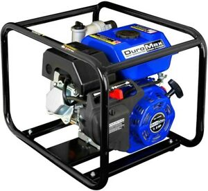 Duromax Water Pump 4 In 9 Hp Gas Powered Low Oil Shutoff Idle Control Cast iron