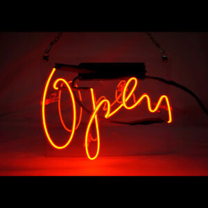 Stylish open sign Neon Light Store Display Beer Bar Sign Real Neon 7 9 x9 8