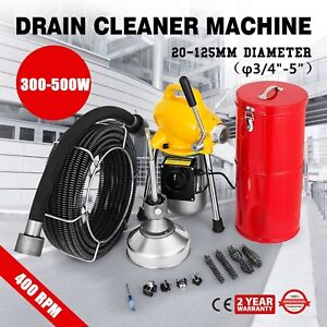 3 4 5 Pipe Drain Cleaner Machine Cleaning Max Length 99ft Powerful Sewer